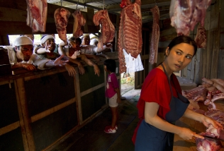 A Woman of the Butcher Shop