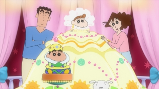 Crayon shinchan arashi o yobu ora to uchu no princess